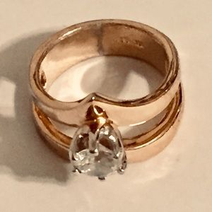 Beautiful 18K gold electroplated ring